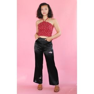 (616) VTG 1990s Satin High Waisted Flared Pants
